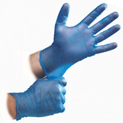 Blue Vinyl Gloves x 100